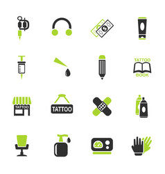 tattoo salon icon set vector image