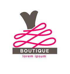 woman dress boutique or fashion atelier salon vector image vector image