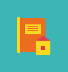 Book and envelope vector