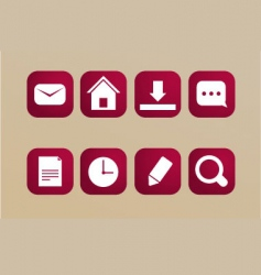 red icons vector image