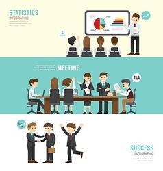 Business design conference concept people set vector image