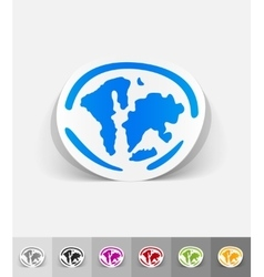 Realistic design element the world islands vector