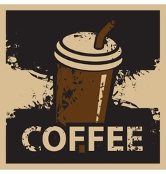 Coffee cup in retro style vector