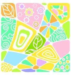 Background mosaic with pattern vector