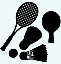 Ping pong tennis and badminton vector