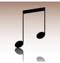 Black Music sign vector image