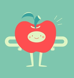 Happy apple smiling vector