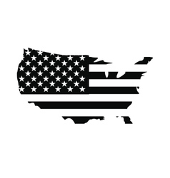 Usa map flag icon vector