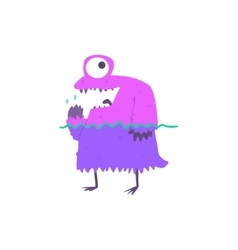 Standing in water monster on the beach vector