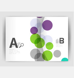 Abstract circles annual report covers modern vector