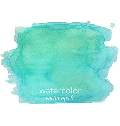 Abstract watercolor hand paint green texture vector