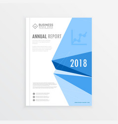 Annual report magazine branding cover page in a4 vector