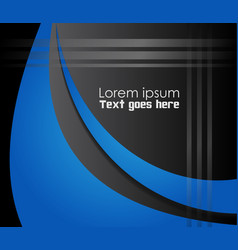 background curve line on black background space sh vector image