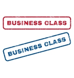 Business class rubber stamps vector