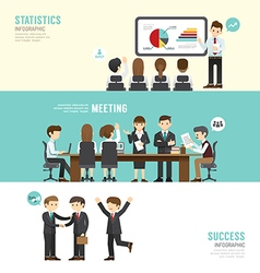 Business design conference concept people set vector image