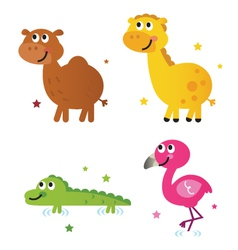 cute safari africa animals vector image vector image