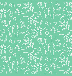 Eight march womens day seamless pattern vector