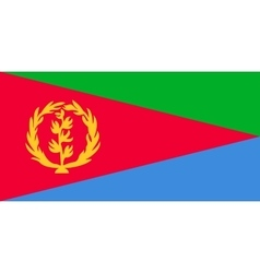 Flag of Eritrea in correct proportions and colors vector image