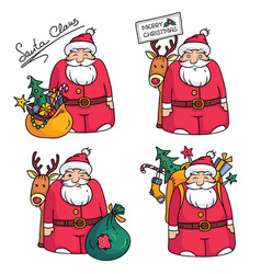 holiday with santa claus character vector image