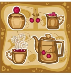 hot drink vector image vector image