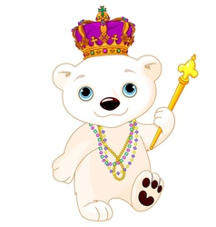 Mardi gras polar bear vector