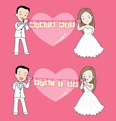 Marry me cartoon vector image vector image