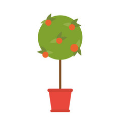 plant in pot icon image vector image vector image