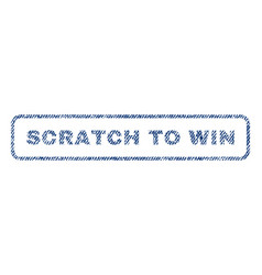 Scratch to win textile stamp vector