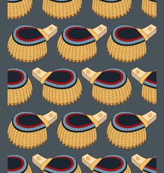 seamless pattern with epaulettes vector image vector image