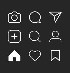 Simple social media icon set vector