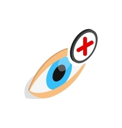 Vision farsightedness icon isometric 3d style vector
