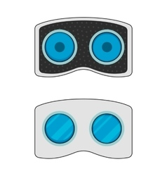 Vr headset icon front and back vector