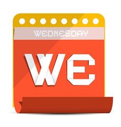 Wednesday paper calendar vector