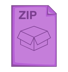 Zip file icon cartoon style vector