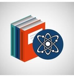 library books school molecule atom vector image