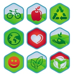 ecology signs and symbols vector image