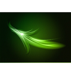 Abstract arrow green up vector