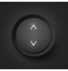 Black button with arrows vector image