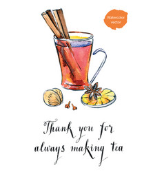 Thank you for always making tea vector