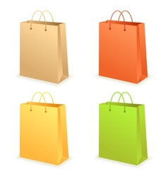 Paperbag set vector
