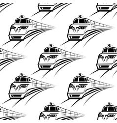 Modern train seamless pattern vector