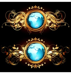 World with ornate vector