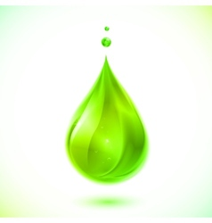 Green liquid drop vector