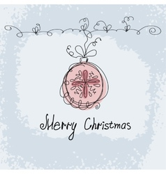 Hand drawn christmas ball vector