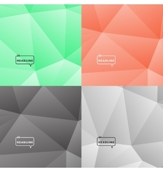 Set abstract pictures dark and bright colors vector