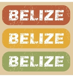 Vintage belize stamp set vector