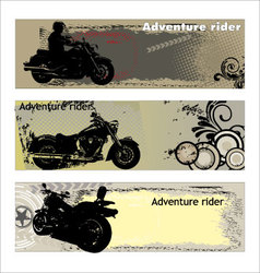 adventure rider vector image
