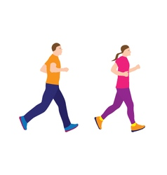 Running people couple vector