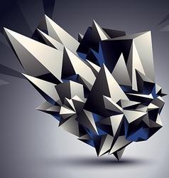 Geometric monochrome polygonal structure modern vector