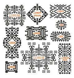 Set of tribal logos vector